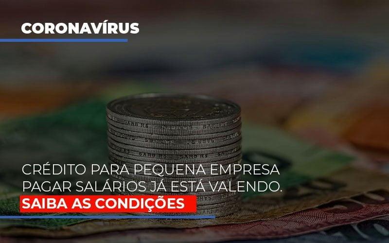 Credito Para Pequena Empresa Pagar Salarios Ja Esta Valendo - Contabilidade Em Campinas | JL Ramos Contabilidade Digital